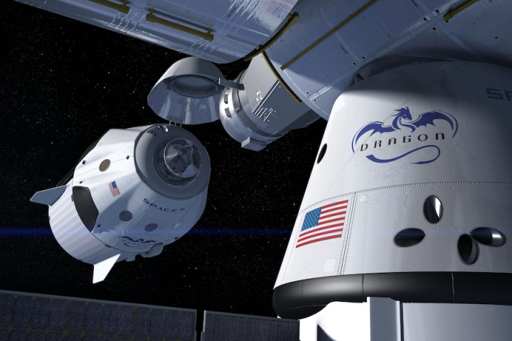 SpaceX Dragon cápsula NASA