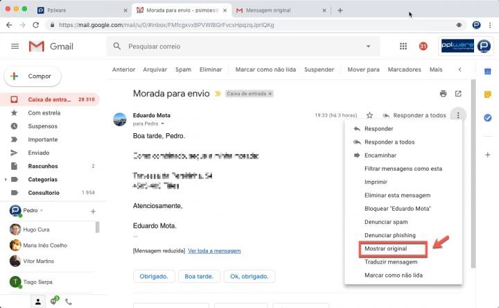Gmail Google exportar mensagens e-mail