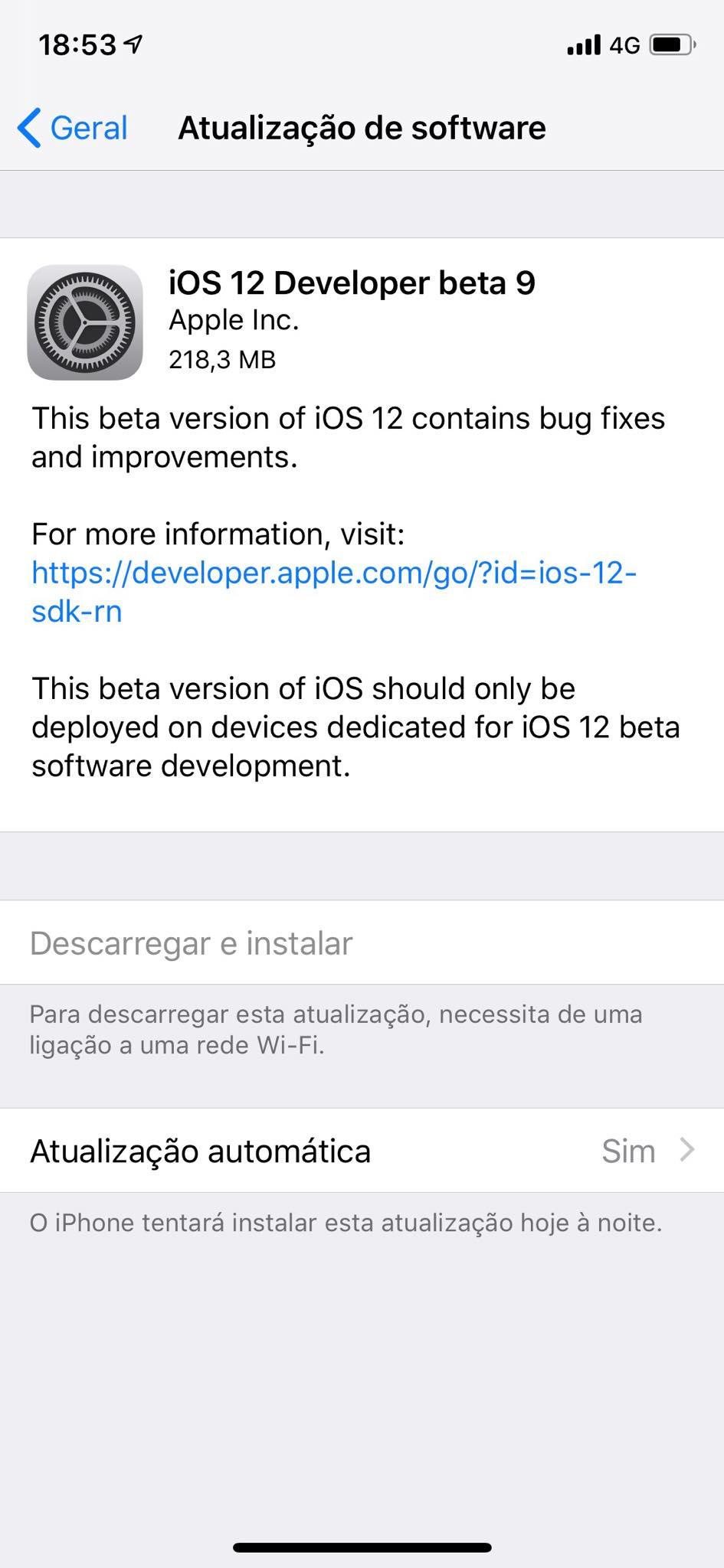 Apple disponibiliza novas versões beta do iOS 12, macOS Mojave, tvOS