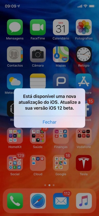 iOS 12 beta bug