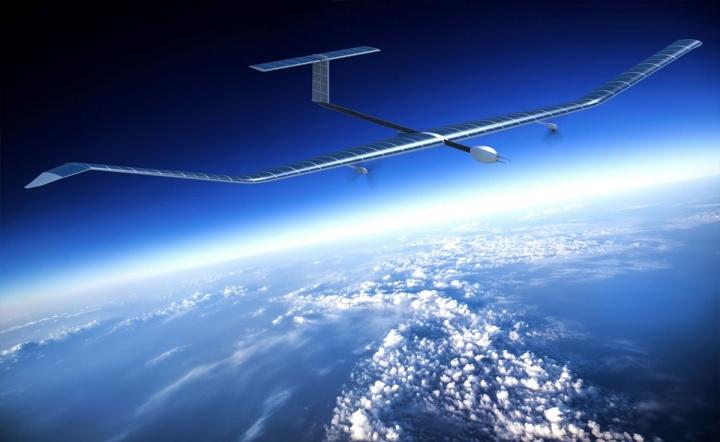 Imagem do Zephyr, o avião da Airbus