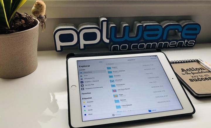 Imagem app Ficheiros num iPad Pro