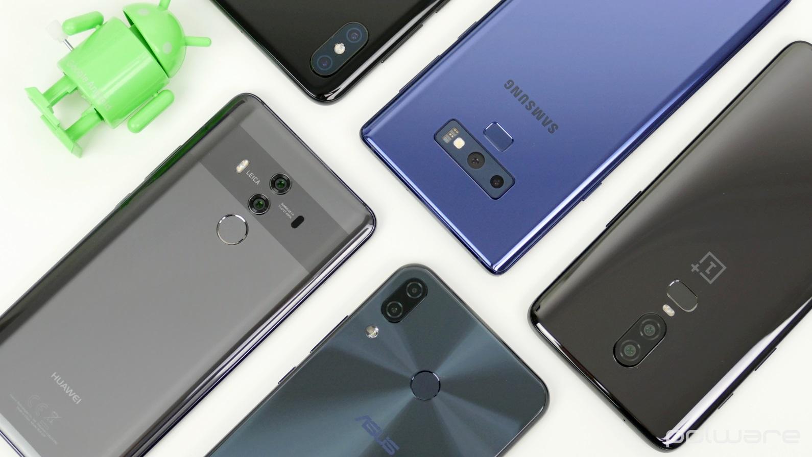 smartphones vendas Huawei Xiaomi Samsung