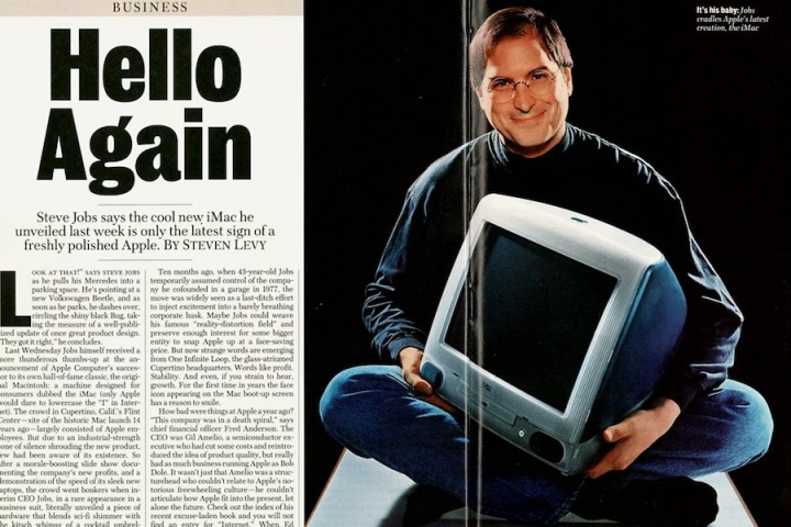 iMac Steve jobs apple 20 anos aniversario