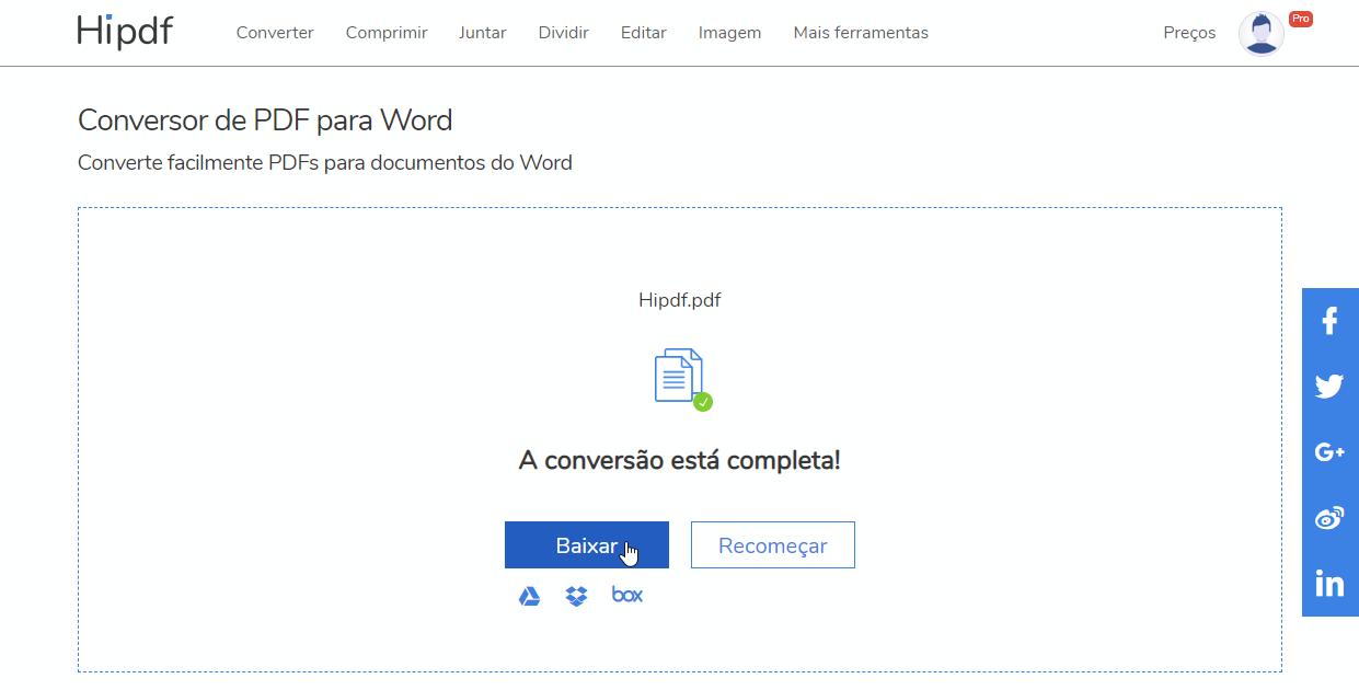 Convertidos de pdf a word