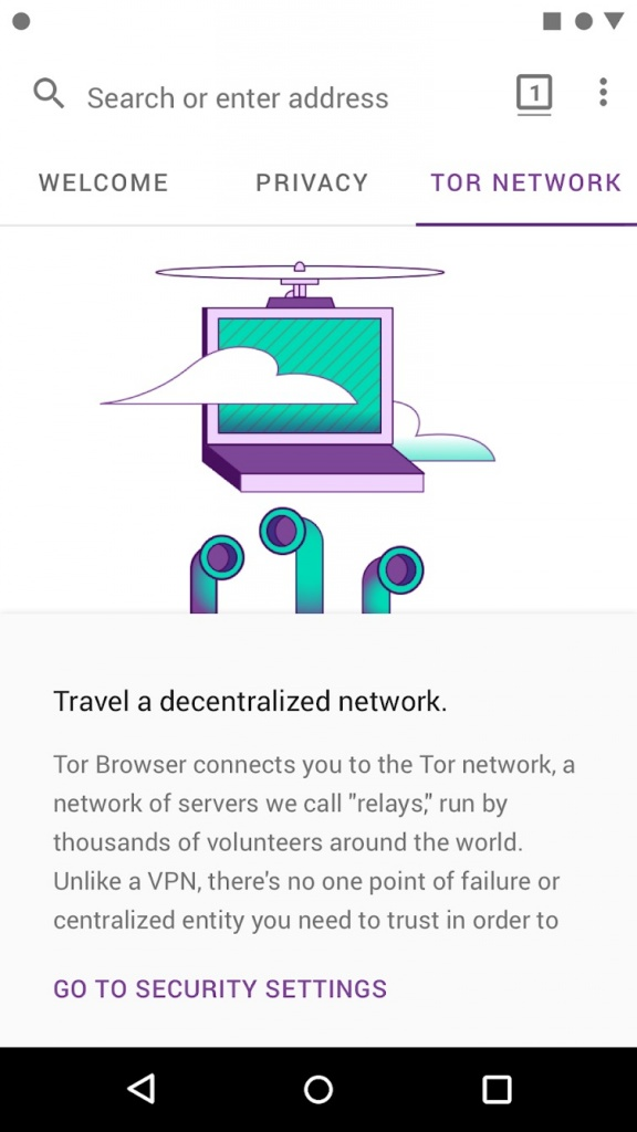 Tor Browser Android alfa smartphones Internet