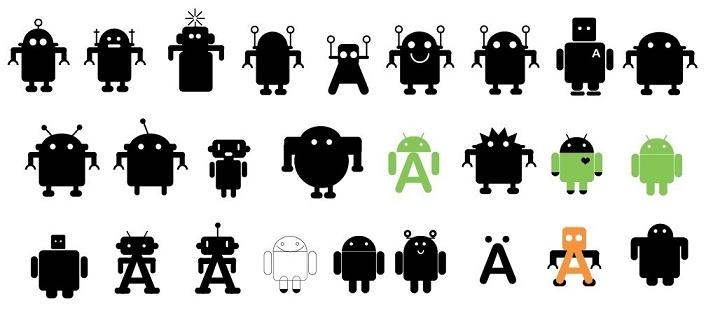 android logo evolução
