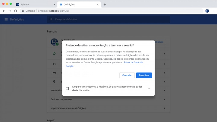 Chrome cookies Google apagar problema