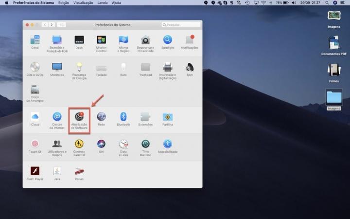 macOS Mojave Apple atualização Apple