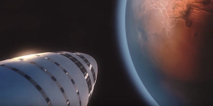 Marte BFR passageiro SpaceX