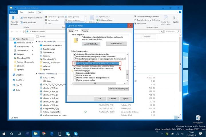 Microsoft Windows 10 pastas arranque dica