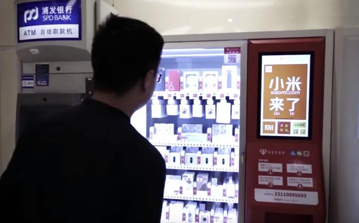 Máquinas de venda automática de smartphones xiaomi e não só