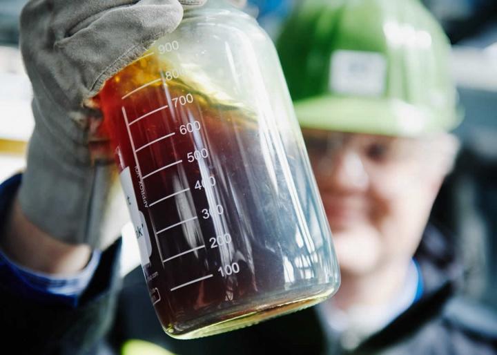 De plástico a petróleo