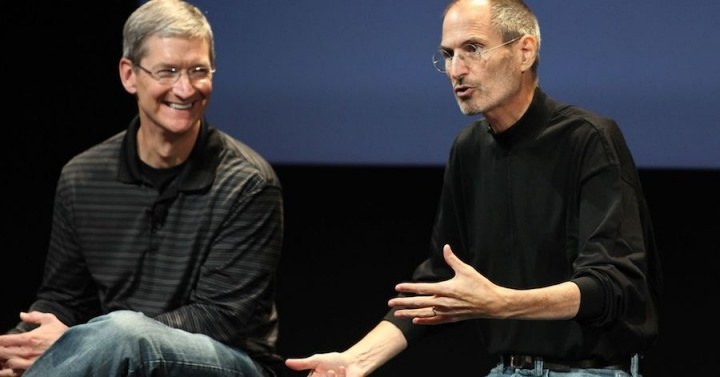Apple CEO Tim Cook Steve Jobs morte