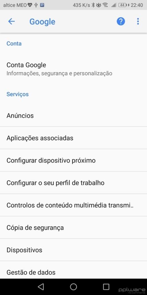 Android Google Drive cópia de segurança