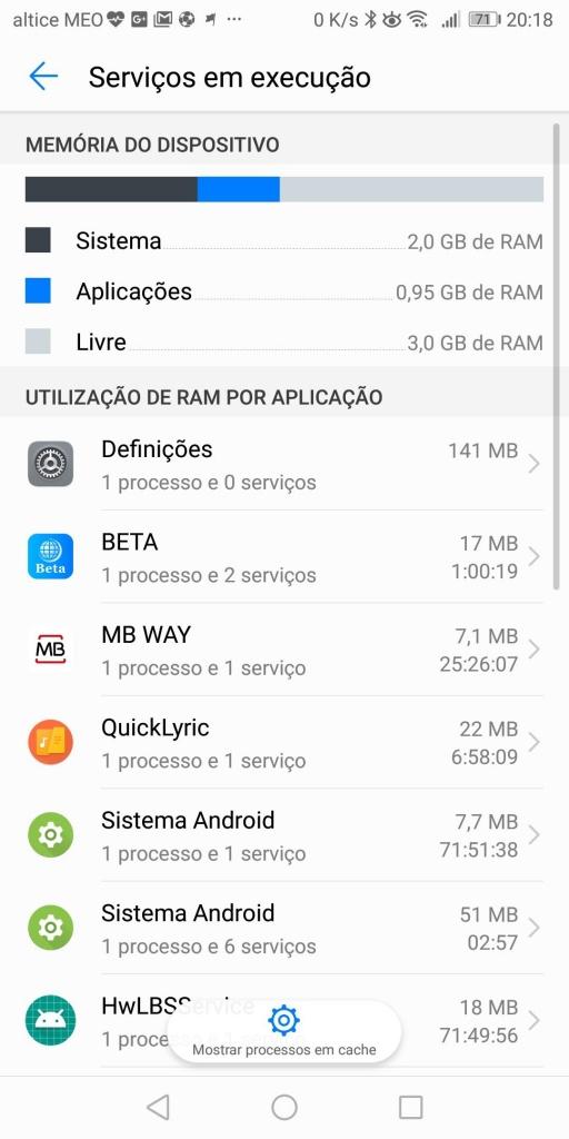 Android memória apps consumir dica