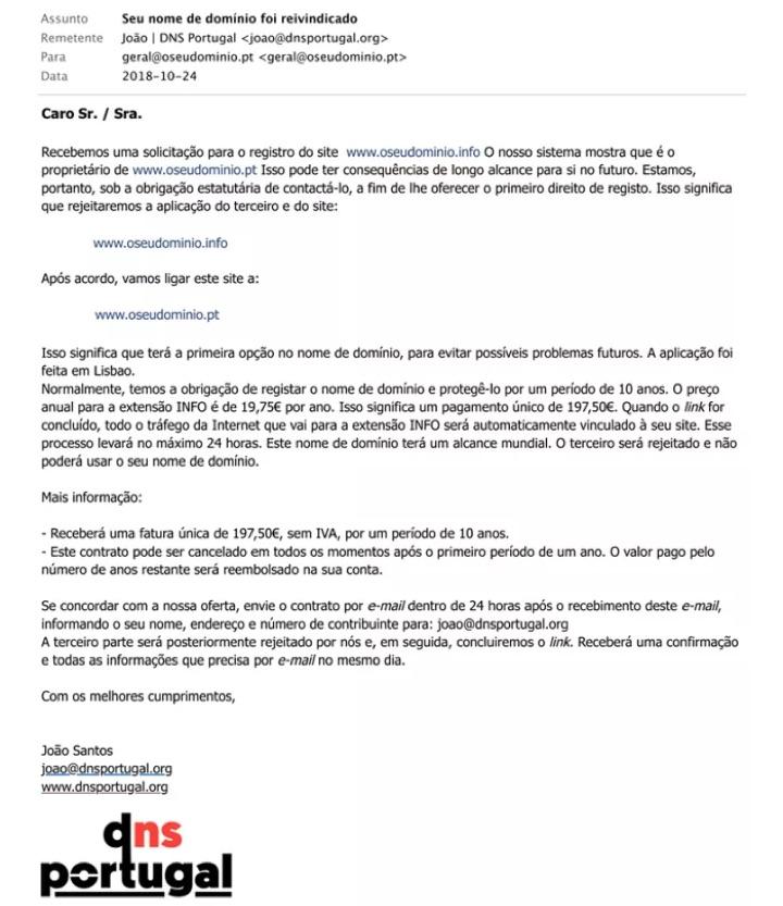 domínios reserva PT EU INFO
