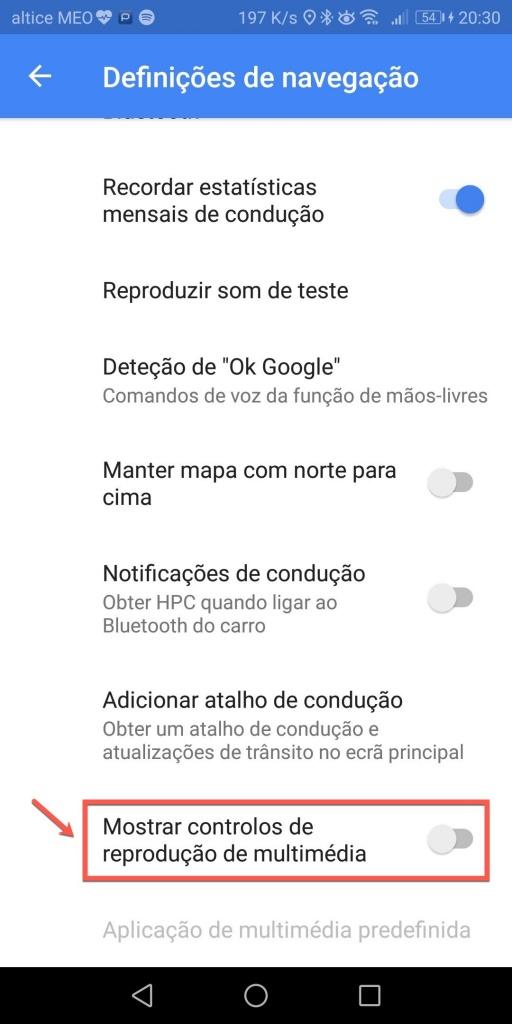 Google Maps Spotify integrado