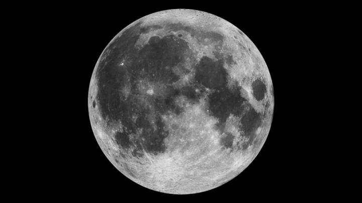 Foto Lua satélite natural cores Terra