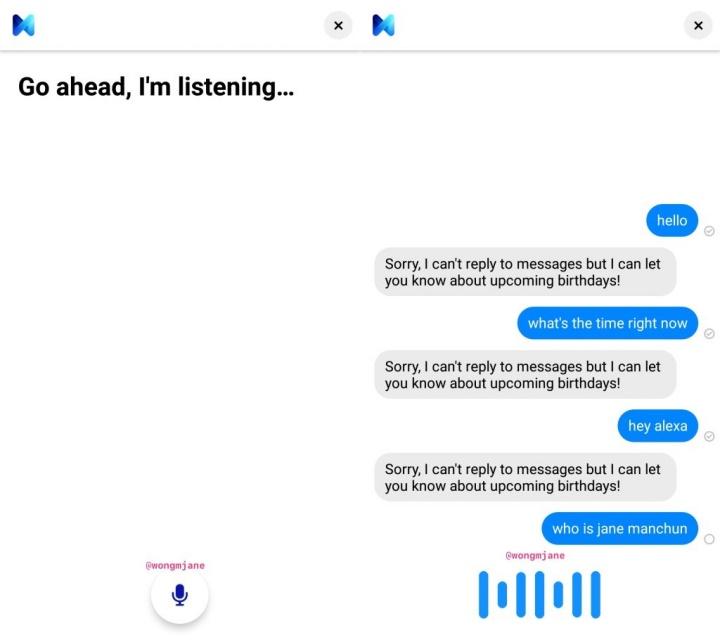 Facebook Messenger voz mensagens chamadas