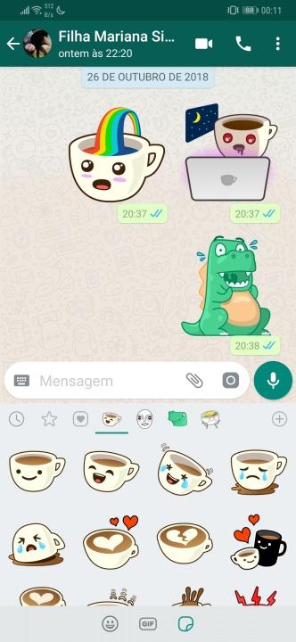 WhatsApp stickers comunicação dica