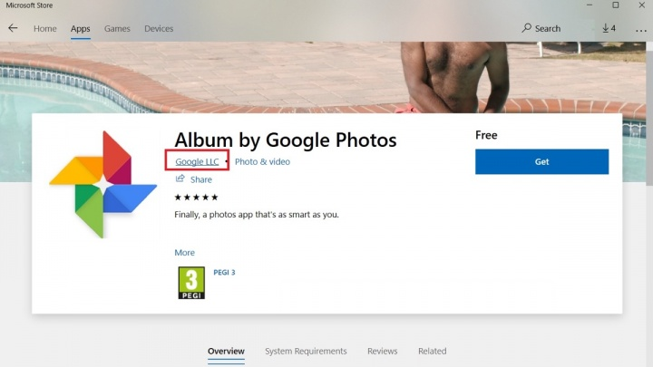 Microsoft Google Google Photos apps
