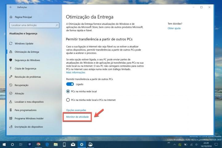 Windows 10 atualizações partilha PCs