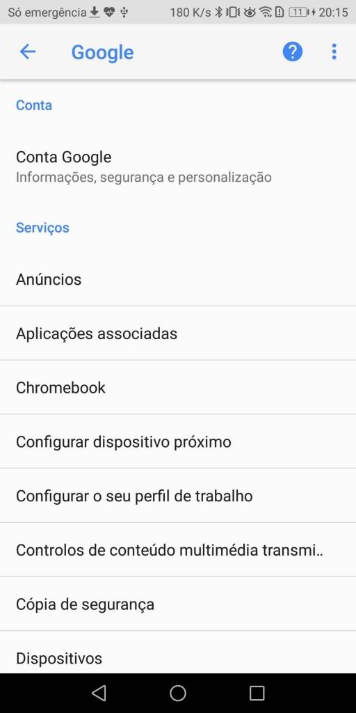 Android cópia de segurança Google Drive dicaAndroid cópia de segurança Google Drive dica