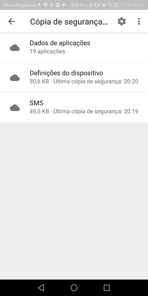 Android cópia de segurança Google Drive dica