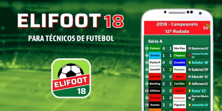 Elifoot 18 PRO está disponível gratuitamente para iOS e Android