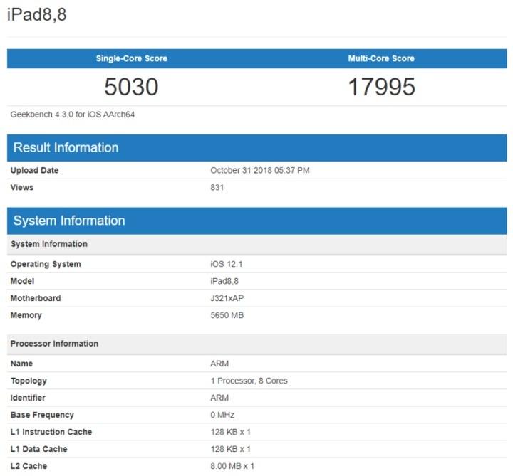 iPad Pro MacBook Pro benchmark desempenho Apple