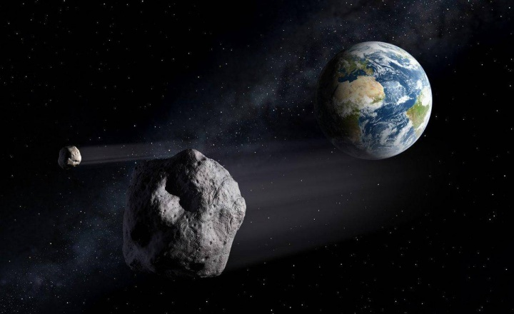 Imagem ilustrativas asteroides a passar pela Terra - lista de near earth