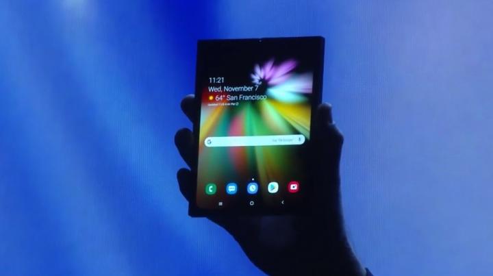 Ecrã dobrável da Samsung