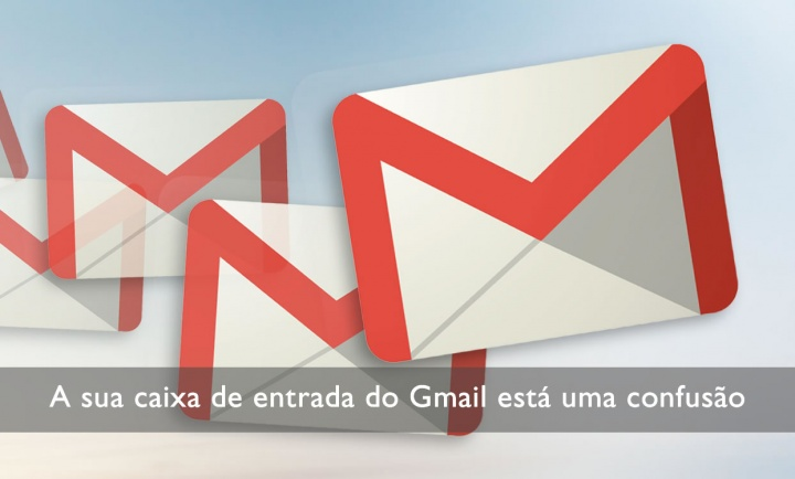 Ilustrar o email do Gmail sem regras e com regras