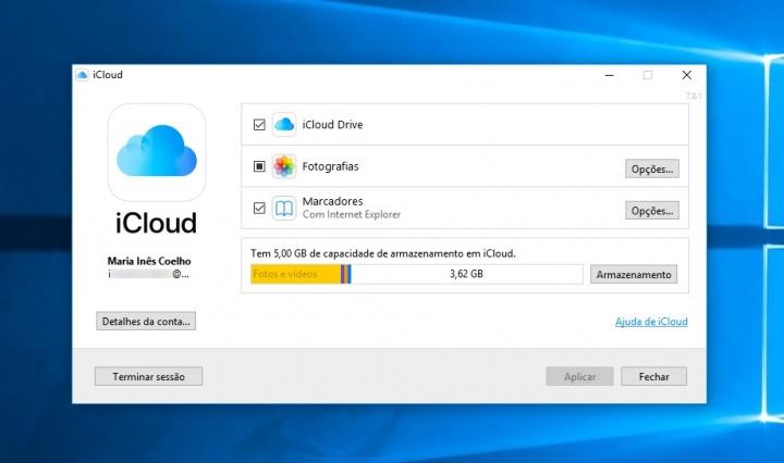 Imagem iCloud para Windows 10