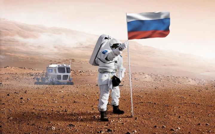 Imagem ilustrativa chegada da Rússia a Marte