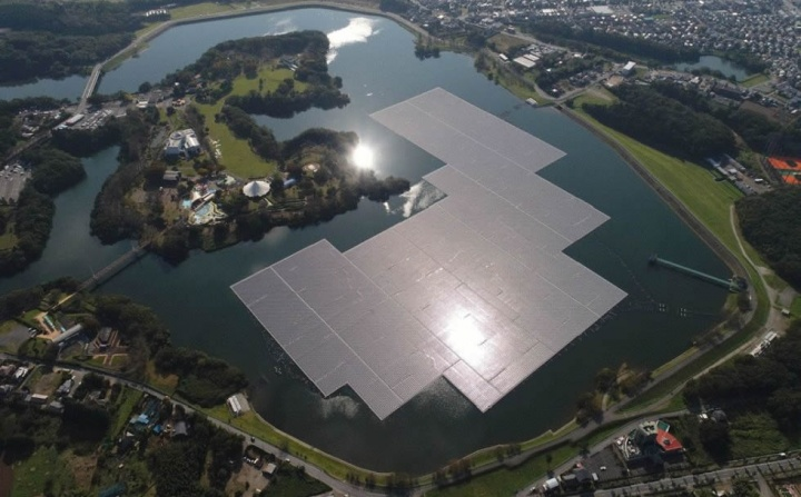 Imagem plataforma de Energia Solar Flutuante