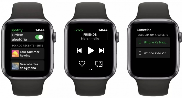 Imagem Spotify no Apple Watch