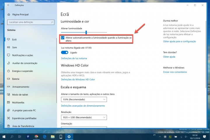 Windows 10 ajustar automaticamente vídeos dica