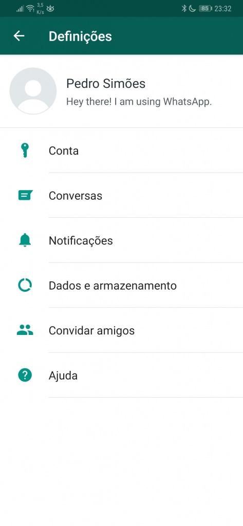 WhatsApp cópias de segurança Google Drive Android