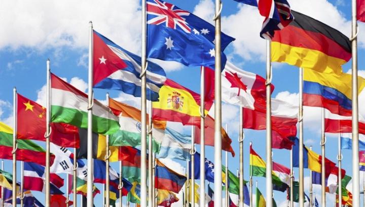 Bandeiras das Nações Unidas - imagem retirada do site eas.pt