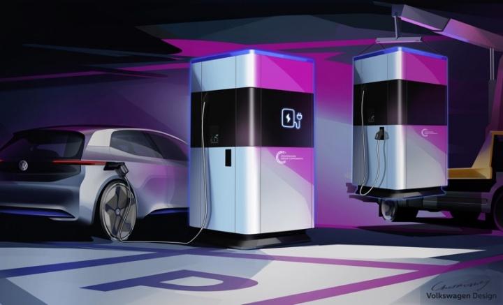 Volkswagen powerbank carros elétricos carregar
