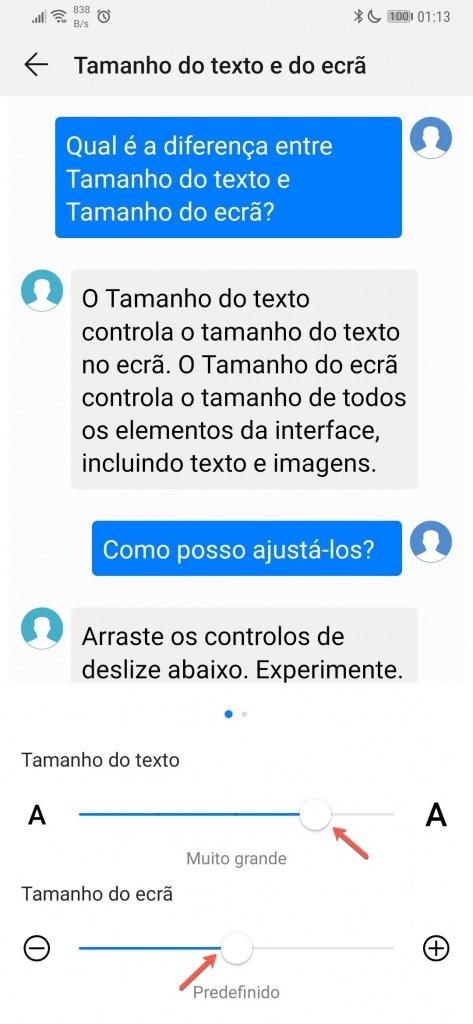 Android texto tamanho ecrã dica