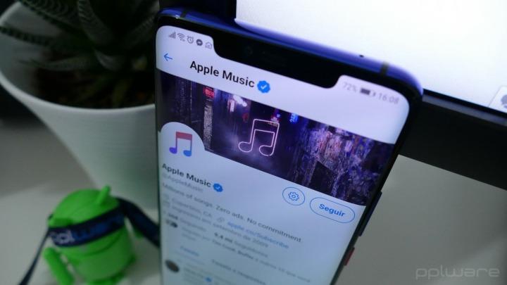 Tweets da conta da Apple Music estão a ser publicados com o Twitter para Android