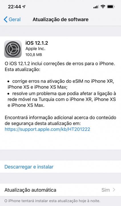 Apple iOS 12.1.2 iPhone iPad