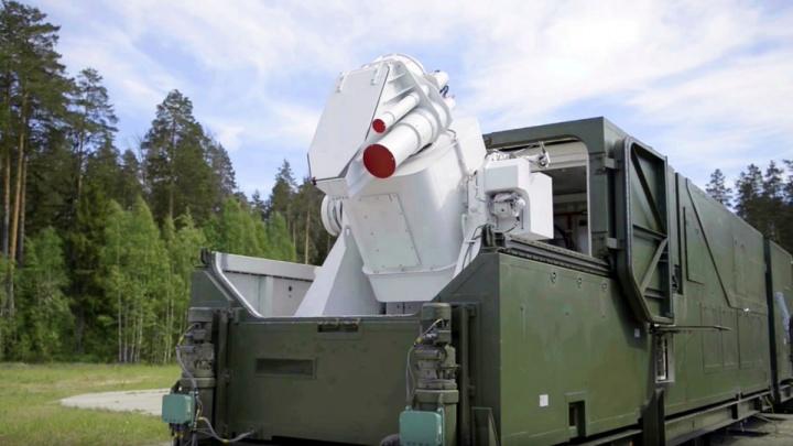 Imagem do Peresvet - o novo canhão laser da Rússia