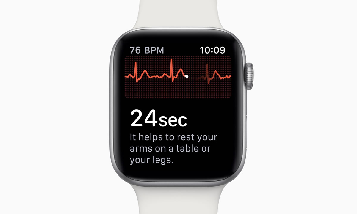 21c78ce3043 Recurso de ECG do Apple Watch 4 parece já ter