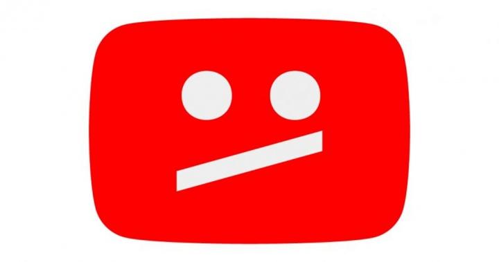 Imagem logo YouTube descontente