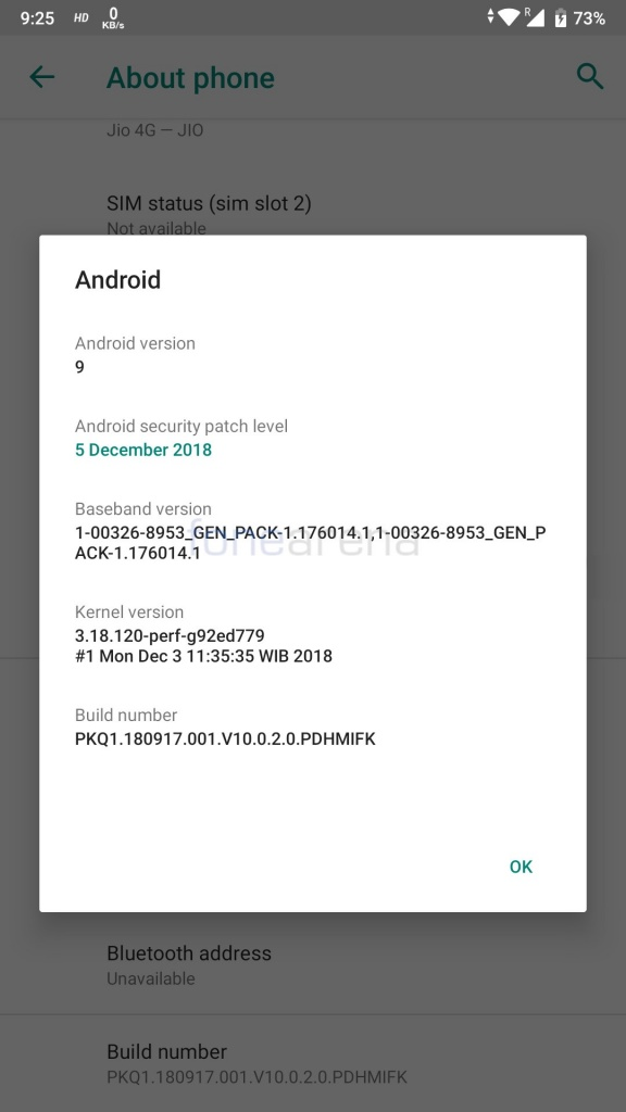 Xiaomi Mi A1 Android Pie beta