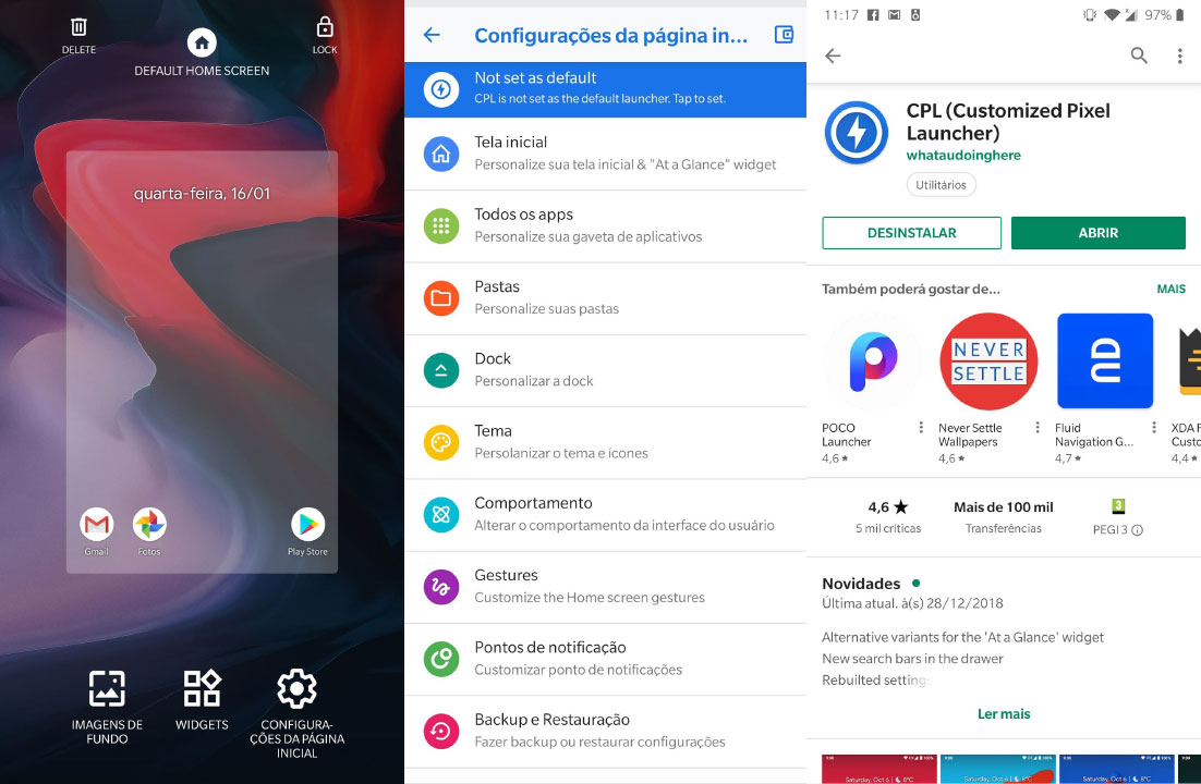 3 launchers gratuitos na Play Store para experimentar o Android Pie